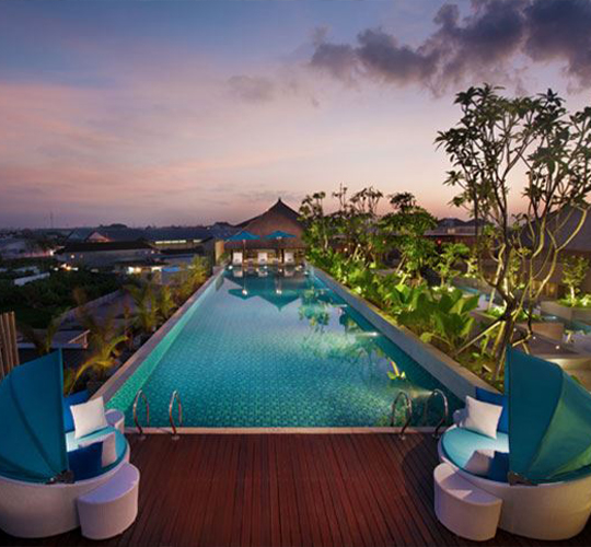 ramada bali sunset road kuta rooftop pool